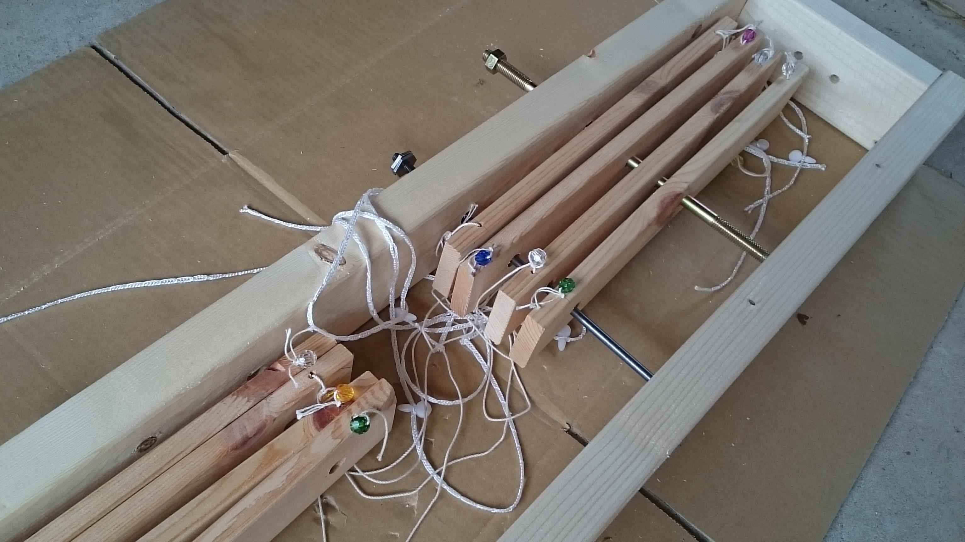 天秤式織り機③